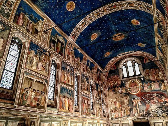 Padova, Aprile 2019 Hdr_Collection Cappella Degli Scrovegni Giotto Interior Art Architecture Historical Building