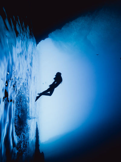 Blue Caves Olympus Wanderlust Adventure Aquatic Sport Blue Cave Diver Freediving Girl Greece Kastellorizo Leisure Activity Mermaid Nature Outdoors Sea Silhouette Swimming Travel Destinations UnderSea Underwater Water Week On Eyeem Women A New Beginning A New Perspective On Life Capture Tomorrow