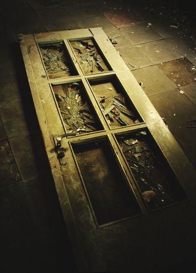 is anybody here....yes Door Broken Broken Glass Abondoned Abondoned Buildings Abondoned Places Alone Apocalyptic Dark Frightening Anybody Home? Broke Let Me In Close-up