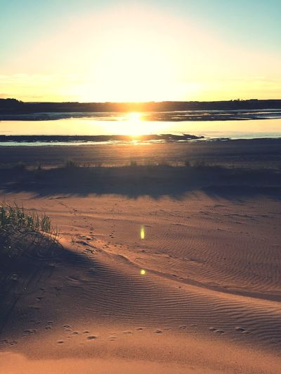 Sunset Beach Sand Walking Seaside