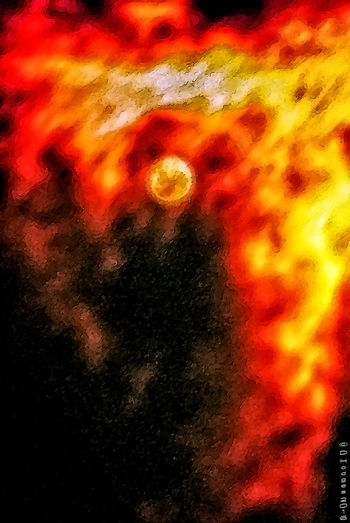 Black Edited Fire Impressionism Moon Night Night Photography Nightphotography No People On Fire On Fire 😁 Outdoors Red Red Yellow