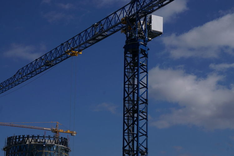Architecture Built Structure Cloud - Sky Construction Site Crane - Construction Machinery Day Development Low Angle View Metal No People Outdoors Sky Stories From The City
