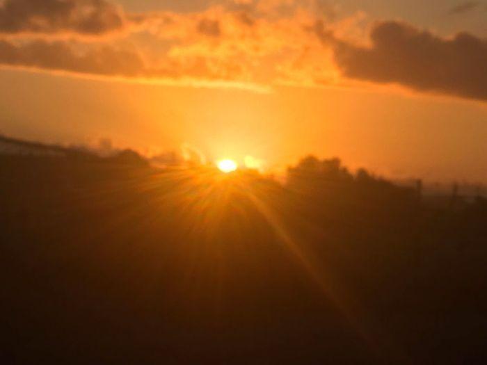 Sunset Sun Sky Sunlight Beauty In Nature Orange Color Tranquility