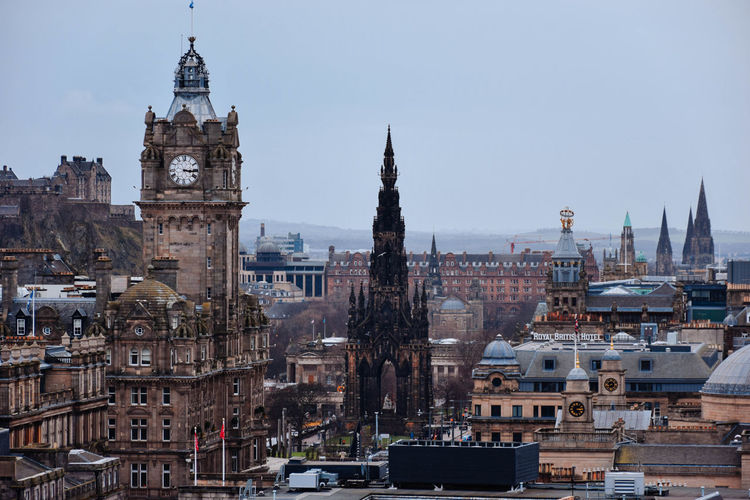 Edinburgh Architecture Building Exterior Built Structure City Travel Destinations Building Tower Travel Sky Religion Tourism Place Of Worship The Past Spirituality History Belief Cityscape No People Tall - High Outdoors Gothic Style Spire  Government Edinburgh Balmoral