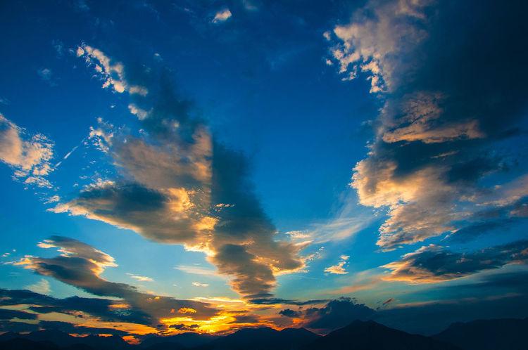 Atmosphere Cloud - Sky Cloudscape Prealpi Venete Tramonto Sky Sunset Prealpi Venete Tranquil Scene