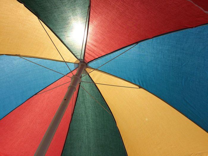 Detail shot of colorful umbrella