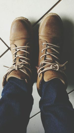 Shoe Low Section Human Body Part Human Leg Human Foot Jeans Standing Casual Clothing Personal Perspective People One Person High Angle View Lifestyles Indoors  Adult Fashion Close-up Sock Pair Leisure Activity