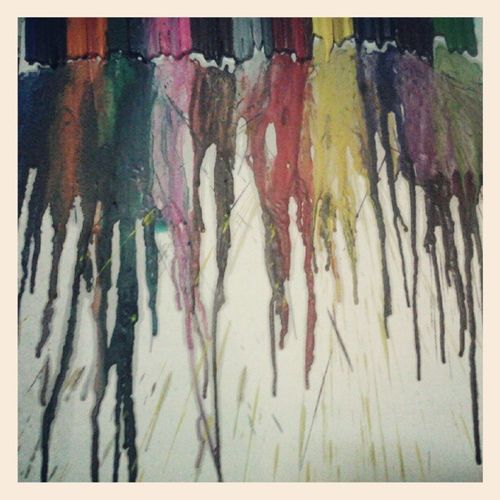 Hihi. Crayon Paint. :D DIY Colorful Awwyea Is it okay? @blahsophiablah :))