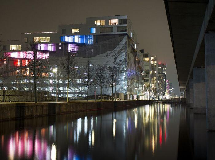 VM Bjerget Architecture Denmark Danmark ørestad Night Lights Night Night Photography