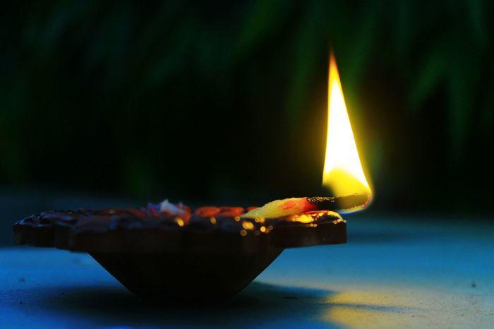 Burning Flame Heat - Temperature Candle Igniting Close-up Illuminated Diwali Diwali💟🎇🎆🌌 Diwali Festival In India Diwali Celebration Diwali Festival Of Lights