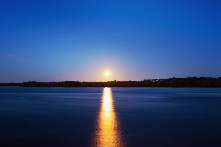 Moon in its final decent this morning. Beauty In Nature Tranquil Scene Moon Tranquility Blue No People Sky Photography