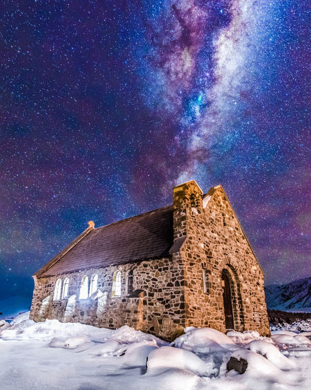The Galactic Chimney. A night under the stars! ___ 📷 Nikon D810   Nikkor 14-24MM F2.8G Nikkor Astrophotography Building Photography Photographer Nikon D810 NZ Newzealand Longexposure Landscape Astro Milkyway Art Photo Travel Astronomy Galaxy Milky Way Star - Space Constellation Snow Cold Temperature Winter Mountain Blue Star Field Space Space Exploration Frozen
