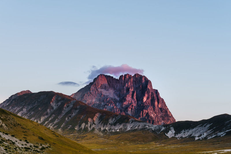 Clear Sky Gran Sasso D'Italia Beauty In Nature Cloud - Sky Day Gran Sasso Landscape Mountain Mountain Range Nature No People Outdoors Scenery Scenics Sky Sunrise Tranquility Shades Of Winter The Great Outdoors - 2018 EyeEm Awards