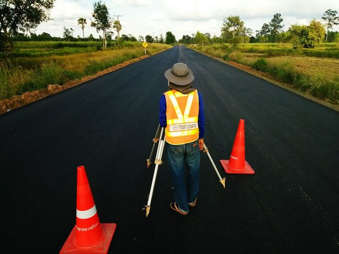 Survey Transportation Road Thailand People Asphalt construction