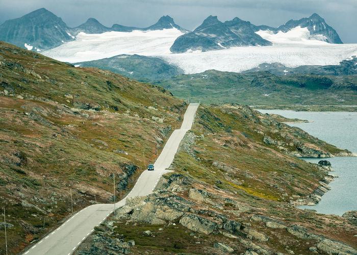 Drive Glacier Landscape Mountain Range Norway Outdoors Roadscenes Scandinavia Scenics Travel Winding Road DSLR APS-C