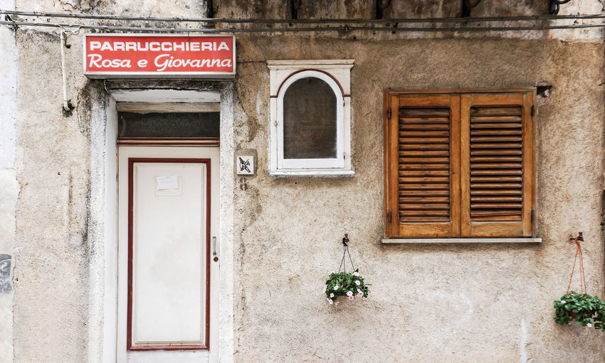 old store in Palermo, Sicily Purrucchieria Window No People Building Sign Old Wall Dortmund Old Town Tristesse Residential District