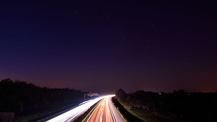 Dark Illuminated Leading Night Outdoors Speed Star The Way Forward