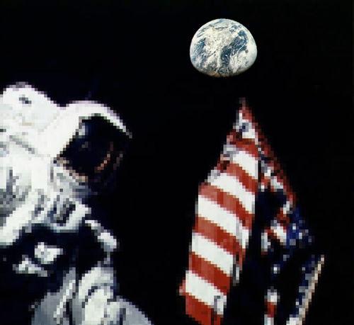 man in the moon Astronaut Creativity Earth First Eyeem Photo Flag Landing Man Man In The Moon Moon Mosaic Rocket Shuttle Space Spaceman Us USA
