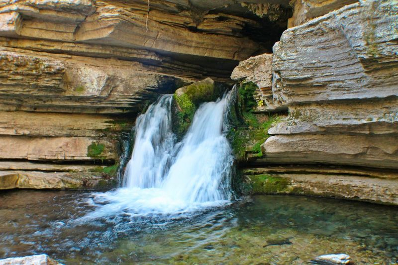 Finding New Frontiers Nature Rock - Object Water Motion Outdoors Beauty In Nature Scenics Waterfall Tranquility