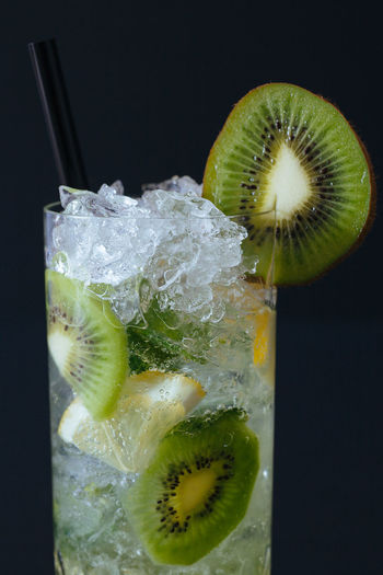 kiwi cocktail close up Alcohol Backgrounds Close-up Cocktail Cold Drink Drinking Glass Fresh Freshness Fruit Fruits Ice Kiwi Lemon Mocktail Mojito No People Party Refreshment SLICE Summer Tonic Water