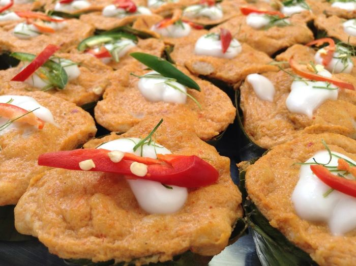 Close-Up Of Serving Wiener Schnitzels With Garnish Bell Peppers