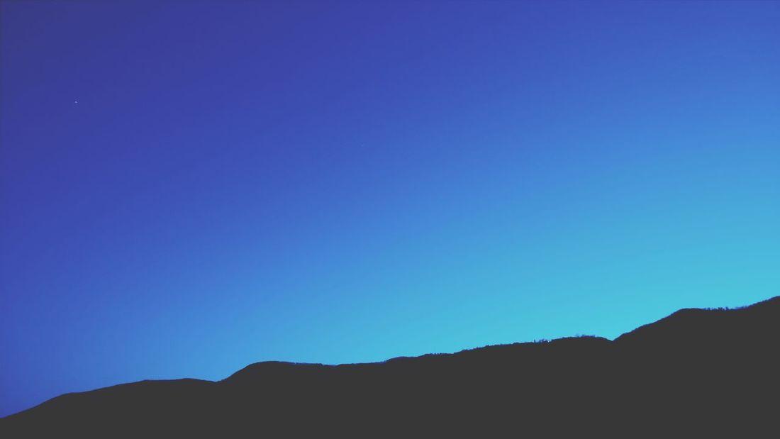 Nuances. Soft Blue Blue Sky Nuances Nuances Of Blue Oniric Clear Sky Mountain Blue Silhouette Sky Building Exterior Sand Dune Arid Landscape