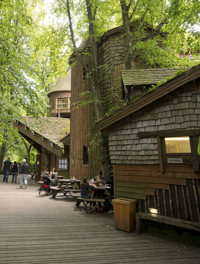Treehouse Treehouse, Treehouse Cafe Adult Architecture Building Exterior Built Structure Day Lifestyles Men Nature Outdoors People Real People Sitting Table Tree Women