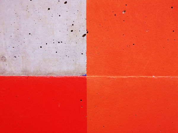 Abstract Photography Abstract Backgrounds Backgrounds Close-up Color Blockıng Colour Block Concrete Full Frame Minimalism Minimalobsession Orange Color Paint Pattern Red Simplicity Textured  Wall Wall - Building Feature