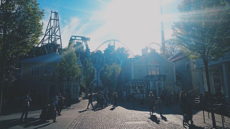 Liseberg Gothenburg Sweden Summer Tivoli Roallercoasters Sunshine