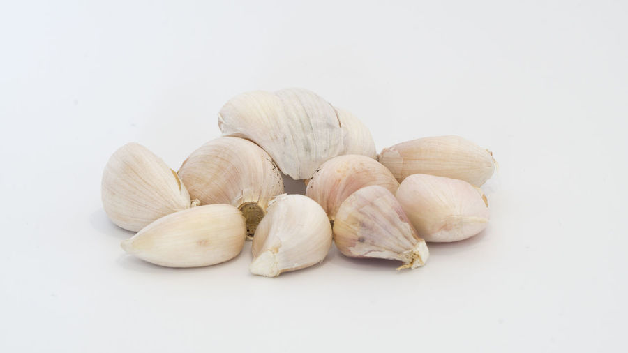 Close-up Copy Space Cut Out Food Food And Drink Freshness Garlic Group Group Of Objects Healthy Eating Indoors  Ingredient No People Nut Raw Food Spice Still Life Studio Shot Wellbeing White Background