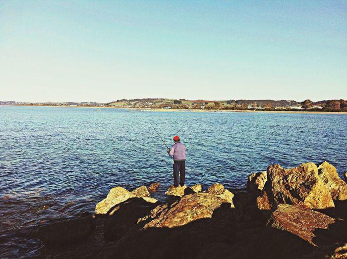 Urban Escape TasmaniaAustralia Relax break wall, fishing and enjoying the sunset breeze