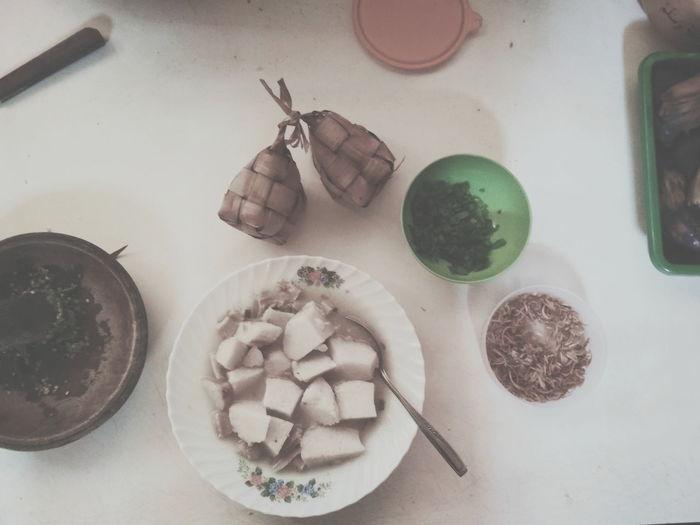 Soto SotoBabat Traditional Food Of Indonesia Sunda Food Ketupat High Angle View Sugar Sweet Food Food And Drink Prepared Food Flour Gingerbread Cookie Rolling Pin