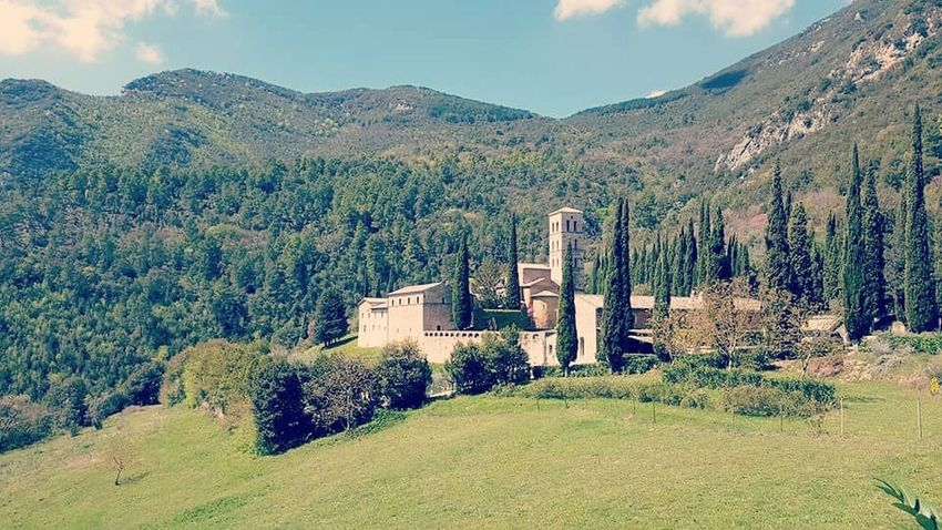 Mountain Outdoors Landscape Scenics Tree Mountain Range No People Day Nature Beauty In Nature Sky Abbey Medieval Castle Architecture Art Frescos Sacred Places God's Beauty Rural Scene Nature Pray Grass