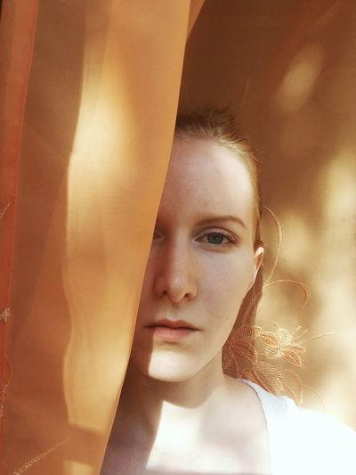 Face Peekaboo Natural Beauty Blonde Girl Makeup Hidden EyeEm Selects Pixelated Young Women Portrait Beautiful Woman Beauty Looking At Camera Beautiful People Painted Image Curtain Dreamlike Ethereal