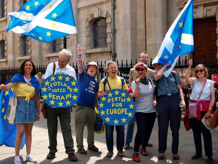 March For The Peoples vote. Whitehall. London. 23/06/2018 Anti brexit protest demanding the British government take brexit negotiations seriously. Europe Brexit Remain Remainers British Politics Brexit Protest London News Politics And Government Protest Whitehall Stevesevilempire Steve Merrick Protesters London Celebration Architecture Flag Group Of People Women Crowd Building Exterior