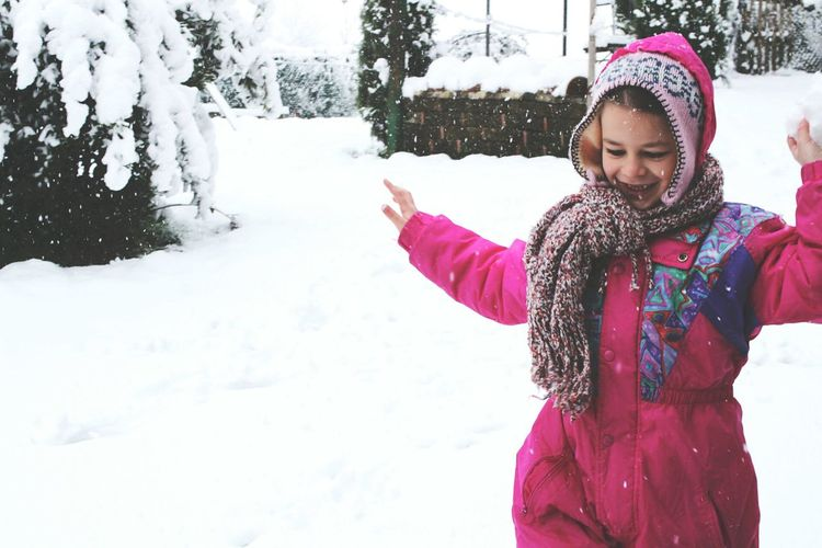 Snow Children Children Photography Happy Happyness Baby Sister Nature Nature_collection Winter White Whitenaturebeauty Fun Funny Love Warm Clothing Snowflake Snow Young Women Cold Temperature Snowing Winter Smiling Females Standing Mitten