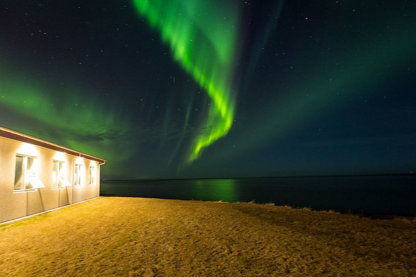 Northern Lights in Iceland Iceland Northern Lights Aurora Polaris Beauty In Nature Go Higher Green Color Illuminated Nature Night No People Scenics Sky Star - Space