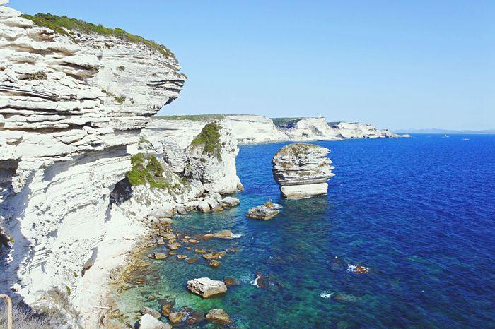 Il paradiso all'improvviso Bonifacio Sperone Mare Sea Scogliera Scogli Cielo Corsica Sardegna Paradiso Paradise