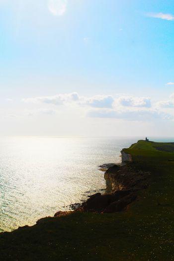England🇬🇧 Sea And Sky Grass Lighthouse Cliffs
