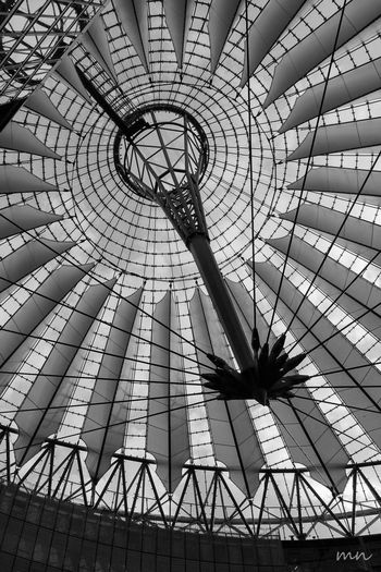 Architectural Feature Architecture Berlin Built Structure Design Diminishing Perspective Directly Below Geometric Shape Low Angle View Modern Sonycenter Sonycenterberlin Spiral Tourism Travel Destinations