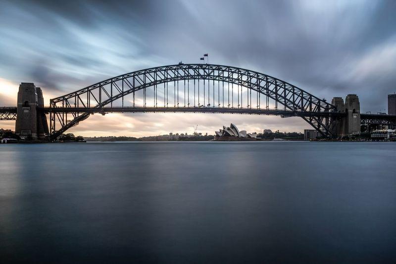 Sydney Harbor Bridge Against Sky During Sunset