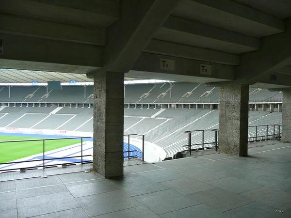 Architecture Athletics Built Structure Concrete Structure Football Stadium In Berlin, No People Olimpic Games  Olympic Stadium Sports Sports Stadium