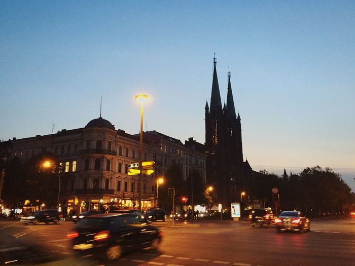 One of my favourite crossroads in Berlin My Daily Commute Blue Hour Evening Heading Home
