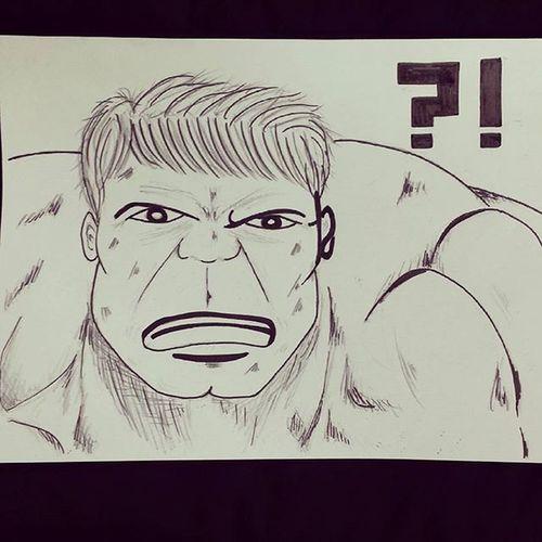 그림 그림스타그램 Draw Drawing 낙서 Pen 펜 Illust Illustagram Illustration Marvel Avengers Hulk 한글 Korean 마블 어벤져스 헐크