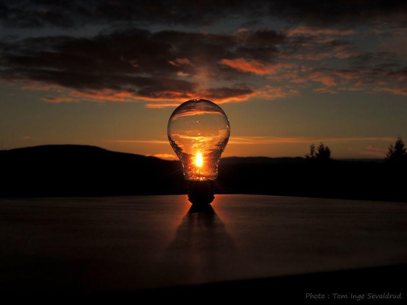 Sunset_collection Lightbulb Photoart Creativephoto Sun Sky Sunset Cloud - Sky Scenics - Nature Silhouette Beauty In Nature Orange Color EyeEmNewHere