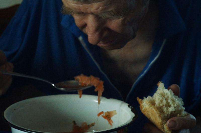 Woman eating food