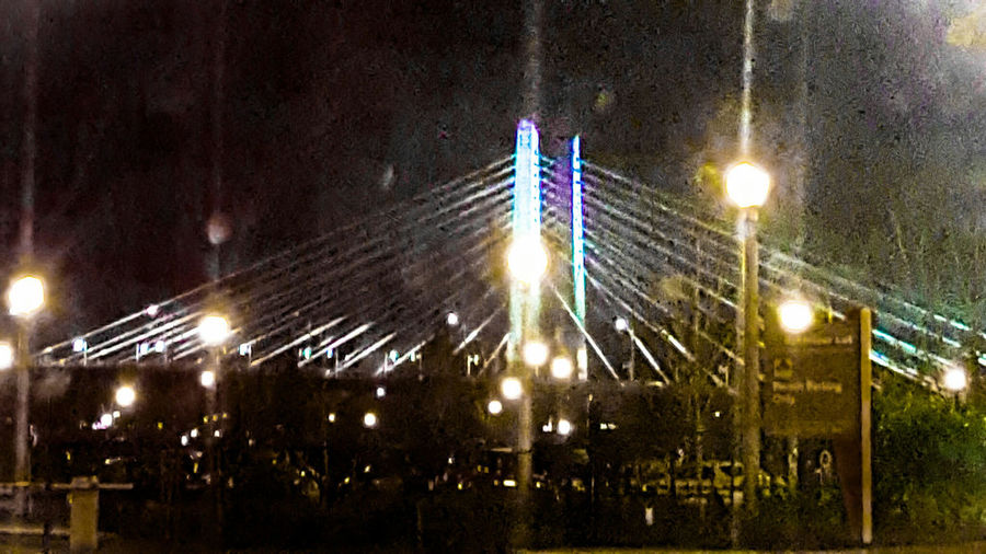 Tilikum Crossing Bridge Pdx Bridge Sky Lights Colors First Eyeem Photo