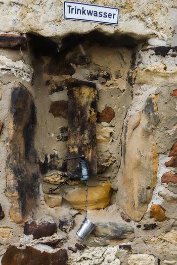 Cold Water Freinsheim Rheinland-Pfalz  Trinkwasser Wall Winter Brunnen Germany Stones Trinken Trinkwasserbrunnen Well