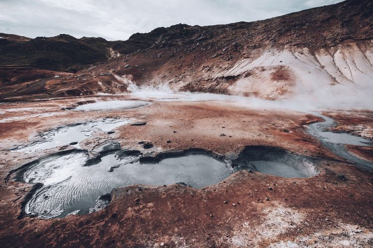 Icelandic landscape EyeEm Best Shots The Week on EyeEm Volcanic Landscape Iceland Sky Nature Scenics - Nature Beauty In Nature Land Day Water No People Environment Power In Nature Outdoors Geology Landscape Non-urban Scene Cloud - Sky Tranquil Scene Tranquility Hot Spring