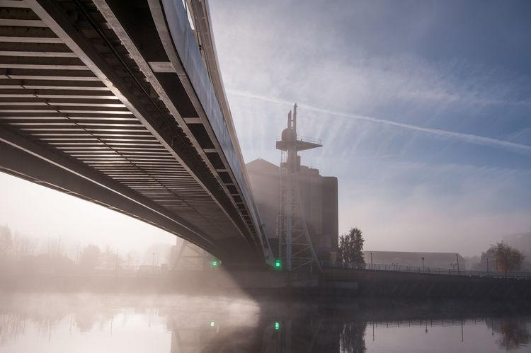 Misty morning at Salford Quays / Media City, UK Architecture Bridge Cityscape Fog Foggy Foggy Morning Haze Media City Salford Mist Misty Outdoors Salford Quays Neighborhood Map